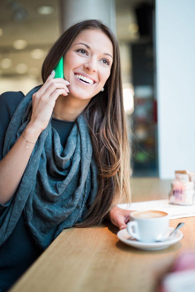 Smart Phone, Coffee, Cafe, Woman,