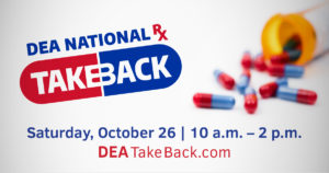 Greene County General Hospital location for National Prescription Drug Take Back Day, October 26, 2019